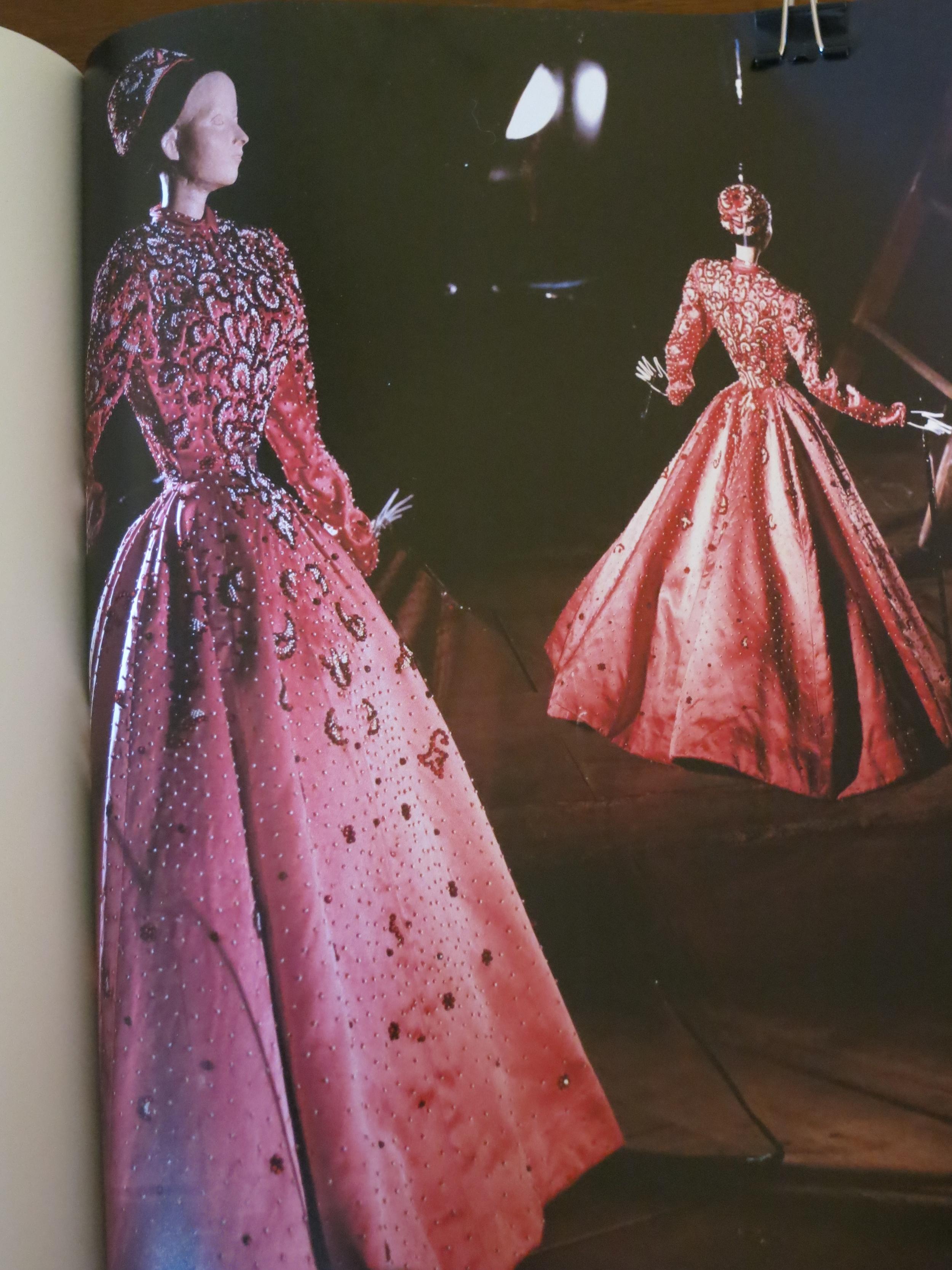 One of Balenciaga's models for Theatre de la Mode
