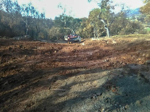 Our lot cleared after the fire 10/9/2017 in Santa Rosa