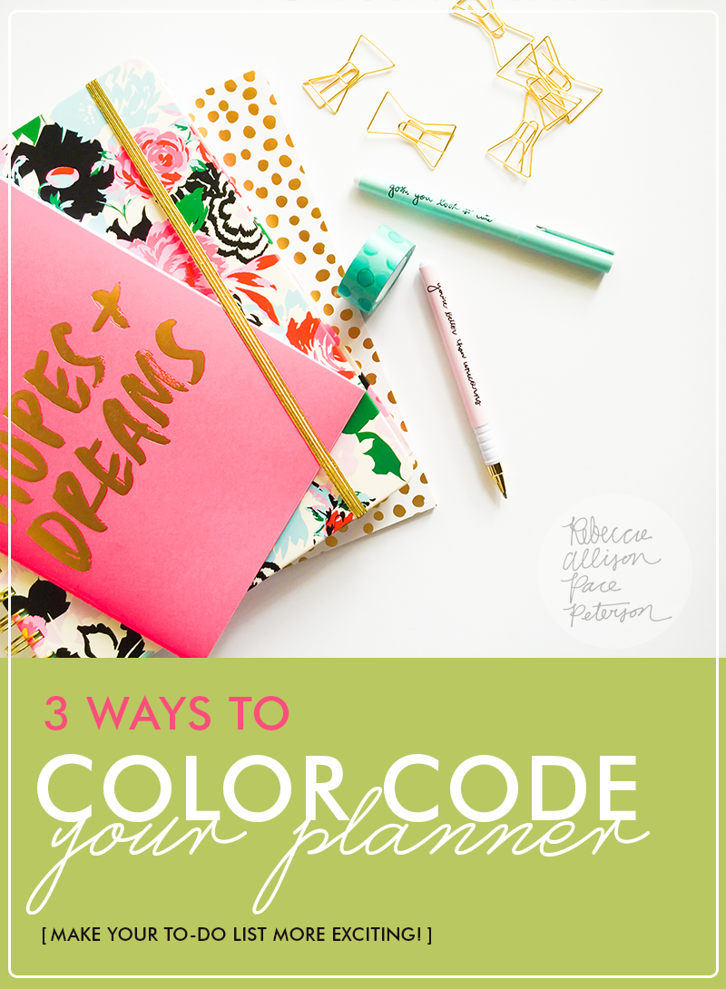 Find the best way to organize your planner! Easy tips from www.rebeccapetersonstudio.com