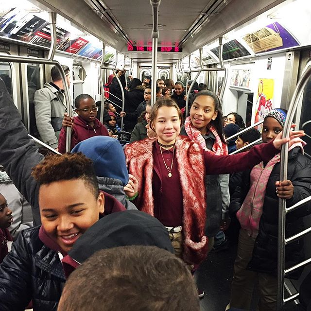 """The Next Stop is"".... Each experience for our students starts with a subway ride packed with smiling faces and excitement. This begins their adventure into new arts and culture activities ✨. ✨. ✨. #SituationProject #ExperiencesMatter #NYCsubway #StandClearofTheClosingDoorsPlease #nonprofit #Bronx #Inspire ✨"