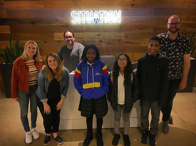 We were thrilled to host 3 awesome students from #PSMS278 at @situationinteractive's office today for a discussion about #dreamjobs. Thank you to our volunteers for promoting unique career paths and sharing personal stories from high school dreams to Situation employment. We look forward to seeing what paths these students choose! ✨✨✨. #SituationProject #ExperiencesMatter #Inspire #FutureLeaders #SEM #SEMschool #FridayMotivation