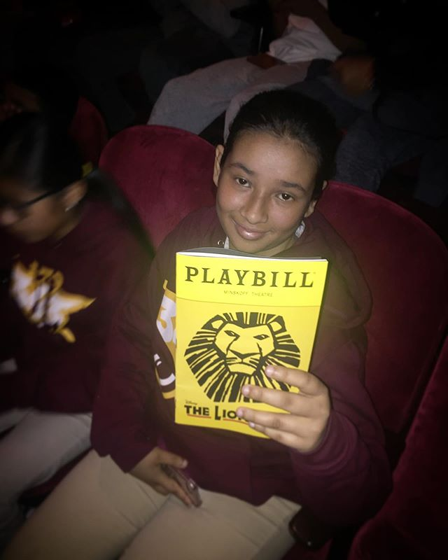 """I believe that theater is important because it's fun to see how other people are doing. You can see a lot of things there. I just want to see what it (The Lion King) looks like!"" - Laiba, 7th grader and future chef/actress✨. We aim to create experiences for students to be inspired, but often the students like Laiba remind us of the importance and impact of the arts. Thanks, Laiba! ✨✨✨. #StudentSpotlight #SituationProject #Inspire #ExperiencesMatter #MotivationMonday #TheLionKing #Broadway"