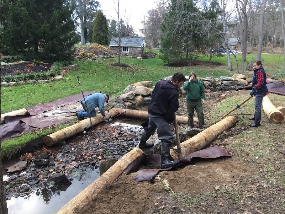 Installation of log sills