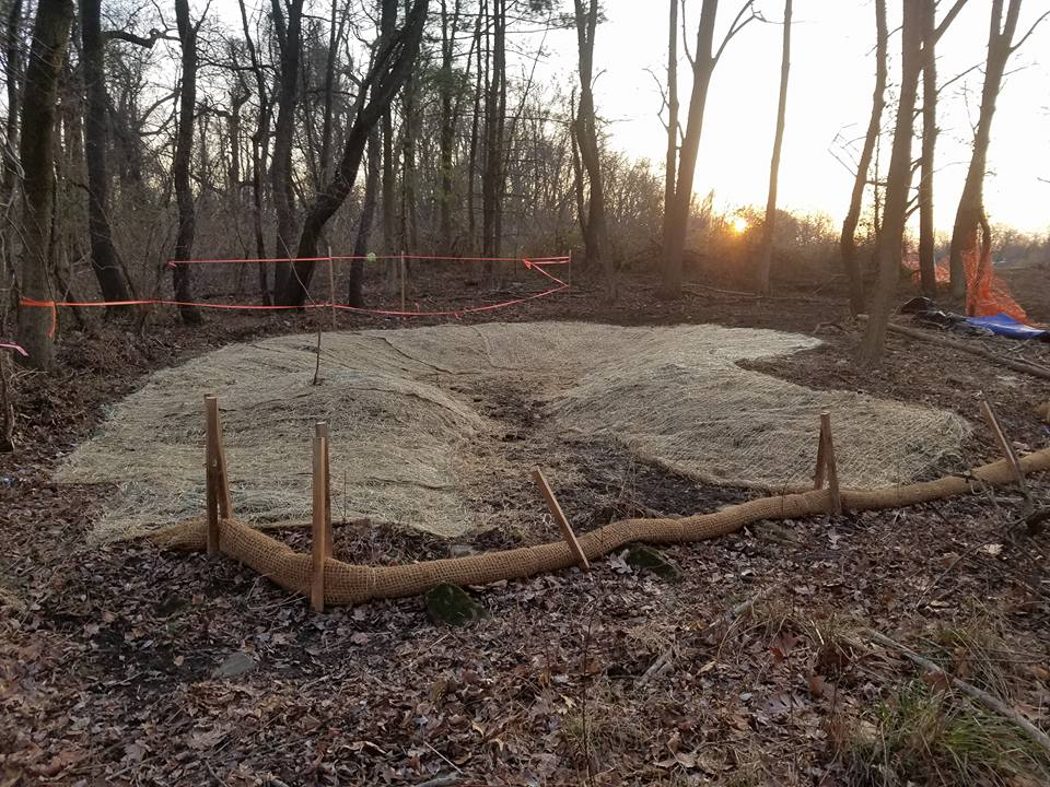 Finished vernal pool and erosion control