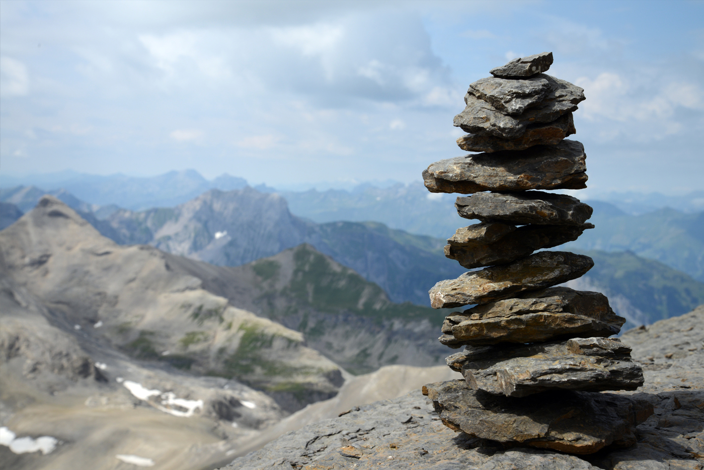 """The word """"ebenezer"""" literally means stone of help. In biblical days, a pile of stones might be raised in a place where God had given a prophetic word or a victory. On many mountain trails, hikers still pile rocks to serve as landmarks when the ground is too hard and barren to support other trail markings. These modern ebenezers help hikers get from one resting place to another.    These thoughts are offered in the hope they can help mark a path from Sunday to Sunday."""