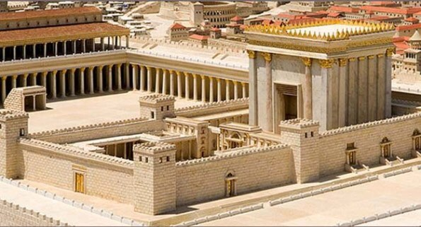 """A model recreation of the Temple, and it's""""Holy Place"""""""