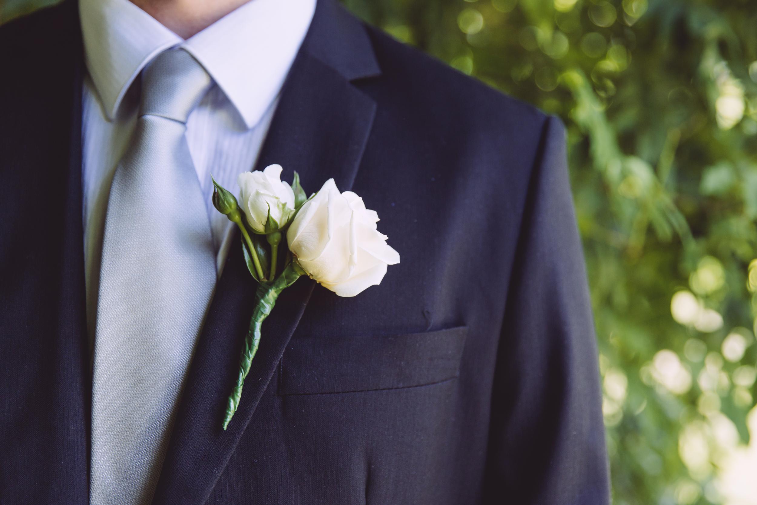 Groom on wedding day