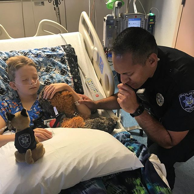 As a part of our TIPTOP family, we wanted you all to be aware of a family situation with our owners Keaton & Amy. Their son, Toby, was involved in a serious bike accident and has been at St Luke's Children's Hospital for the last 3 days being treated for internal bleeding and severe head injury.  Officer Tavita from Meridian Police Dept was first on the site and is seen here visiting and praying with Toby this evening. Please keep Toby and the Smith family in your thoughts and prayers. If you have any customer needs, you can reach us at info@tiptopcleanings.com and our wonderful management team will ensure you're covered! We 💙you all!