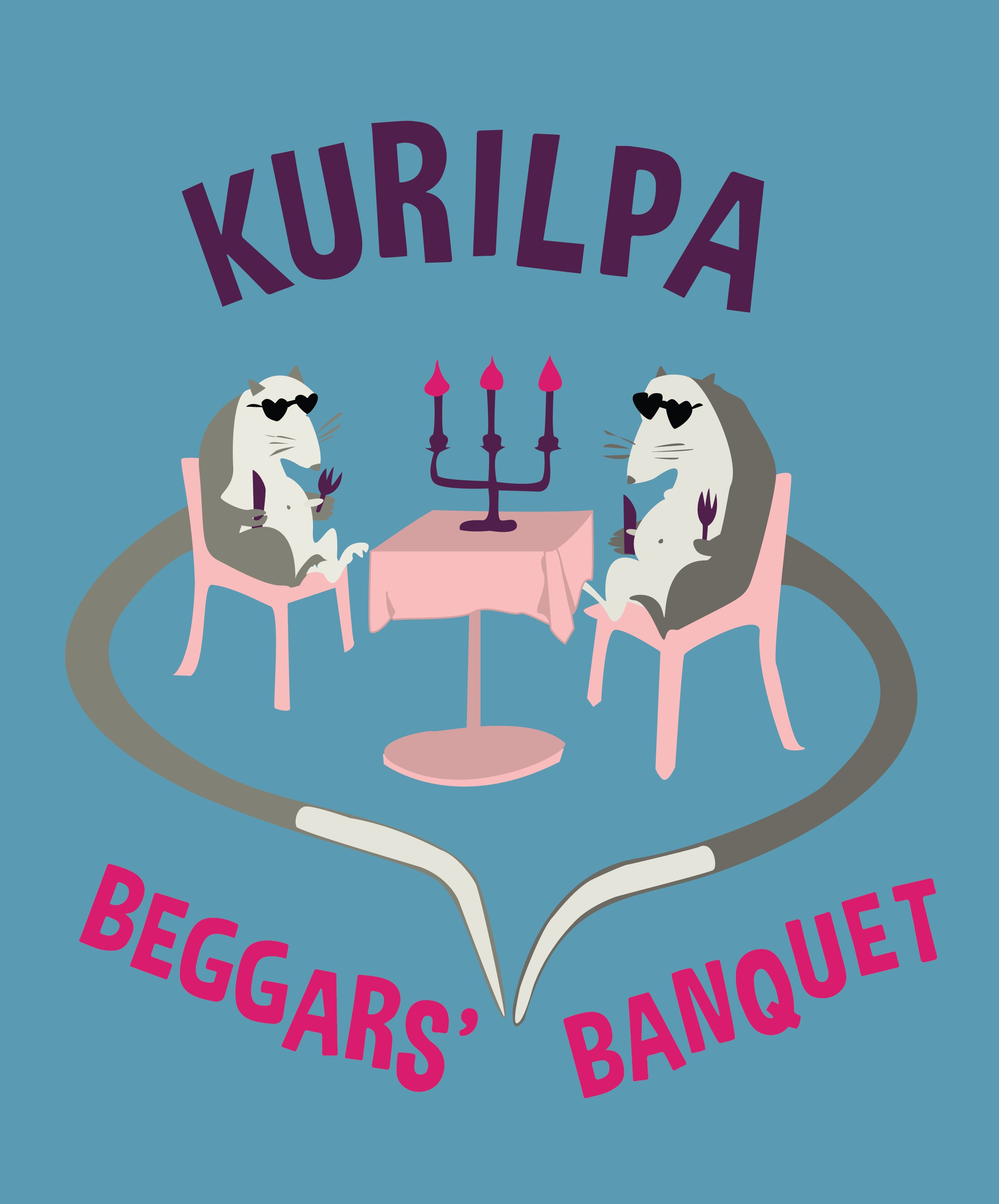 KURILPA BEGGARS' BANQUET   Poster design in collaboration with Adrian Buzolic for the community event organised by West End Community Association in 2017.