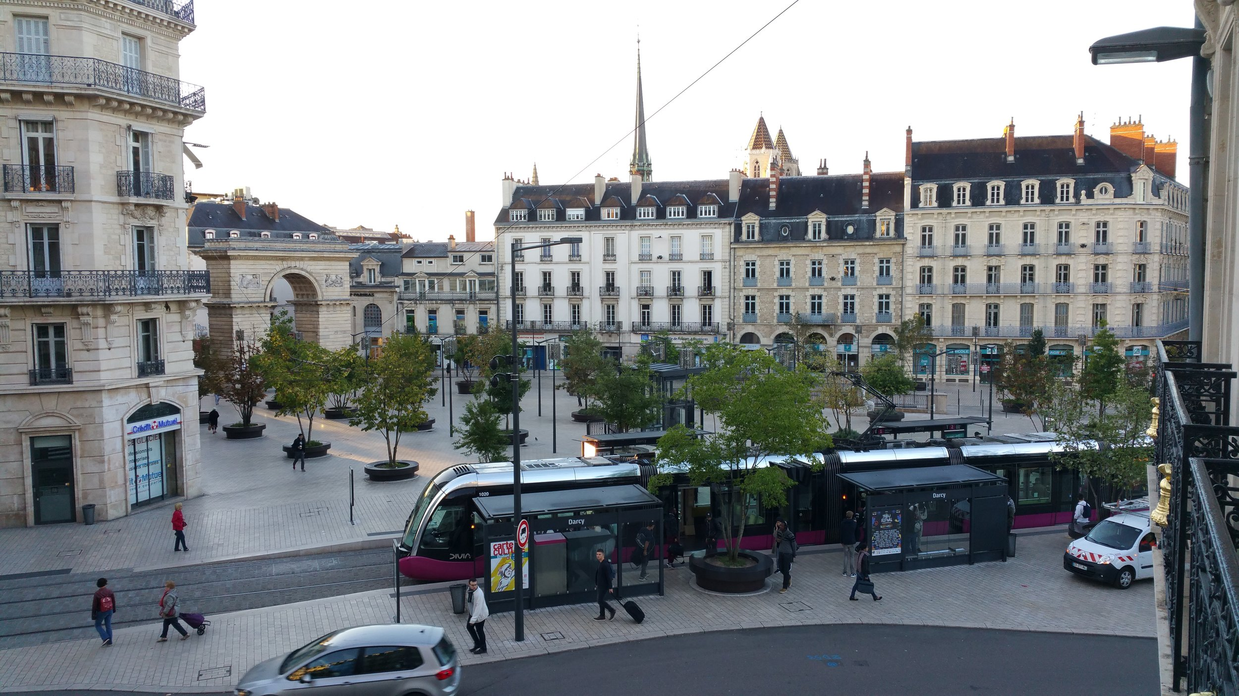 The view from our hotel room in Dijon