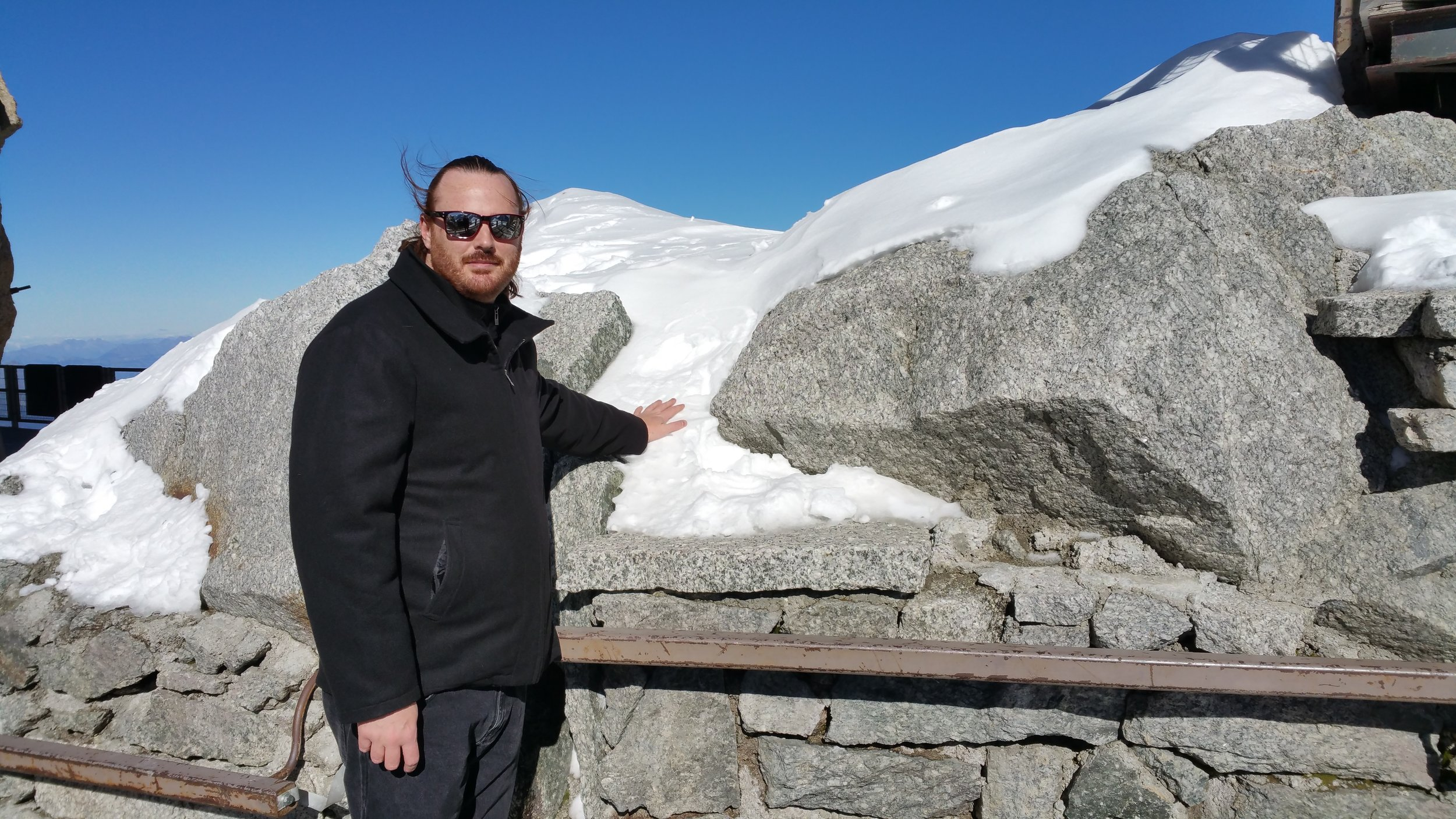 Me touching a glacier? Probably not, but let's go with that.