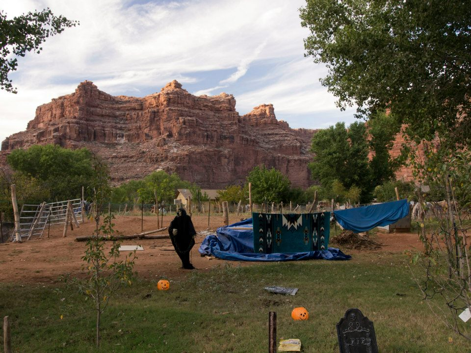 The village of Supai was preparing for Halloween at the time