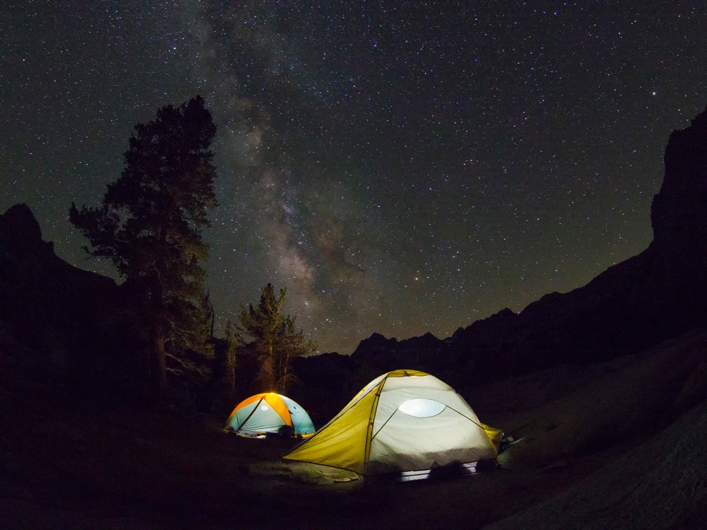 Kyle's amazing capture of the milky way over our tents
