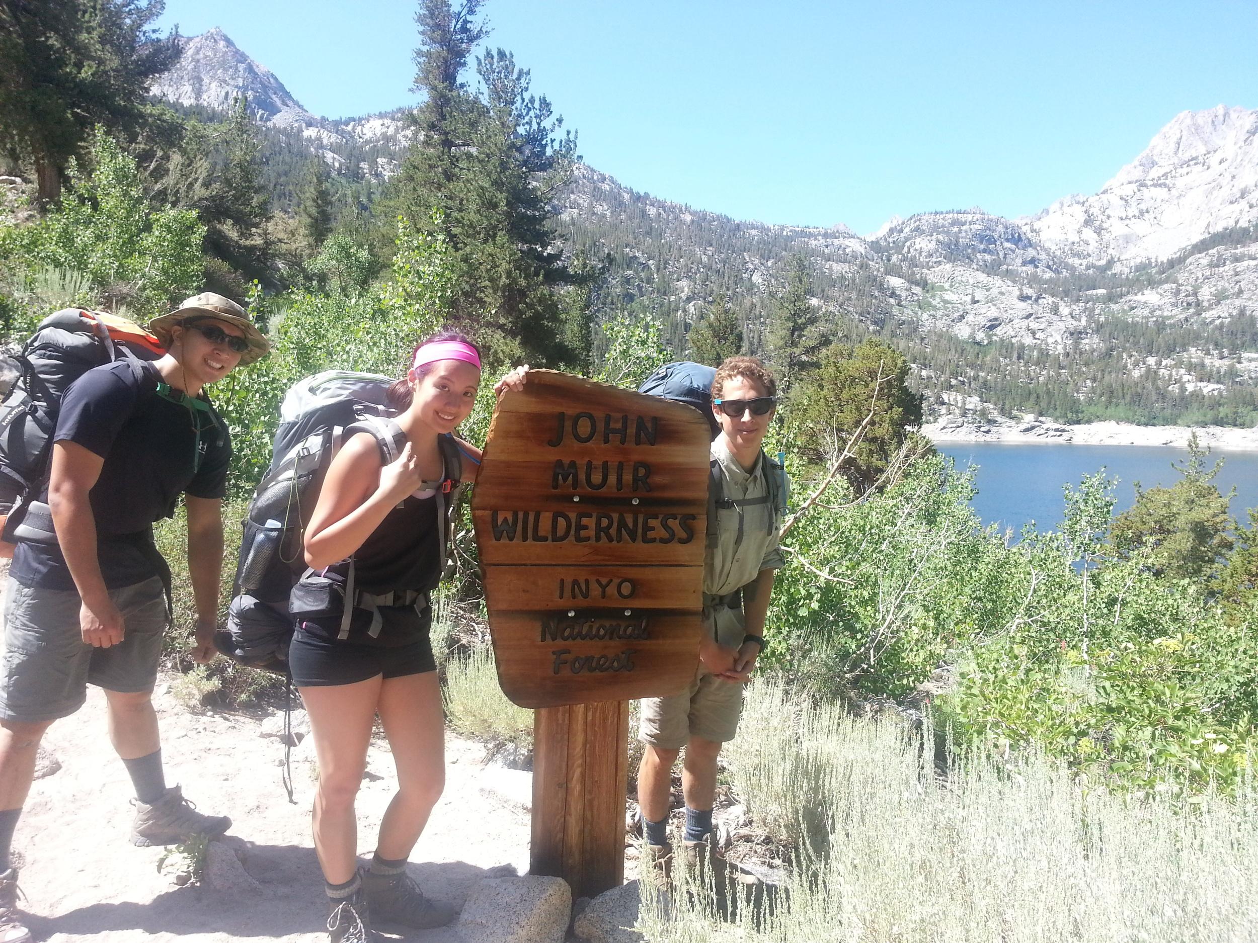Making our way around Sabrina Lake