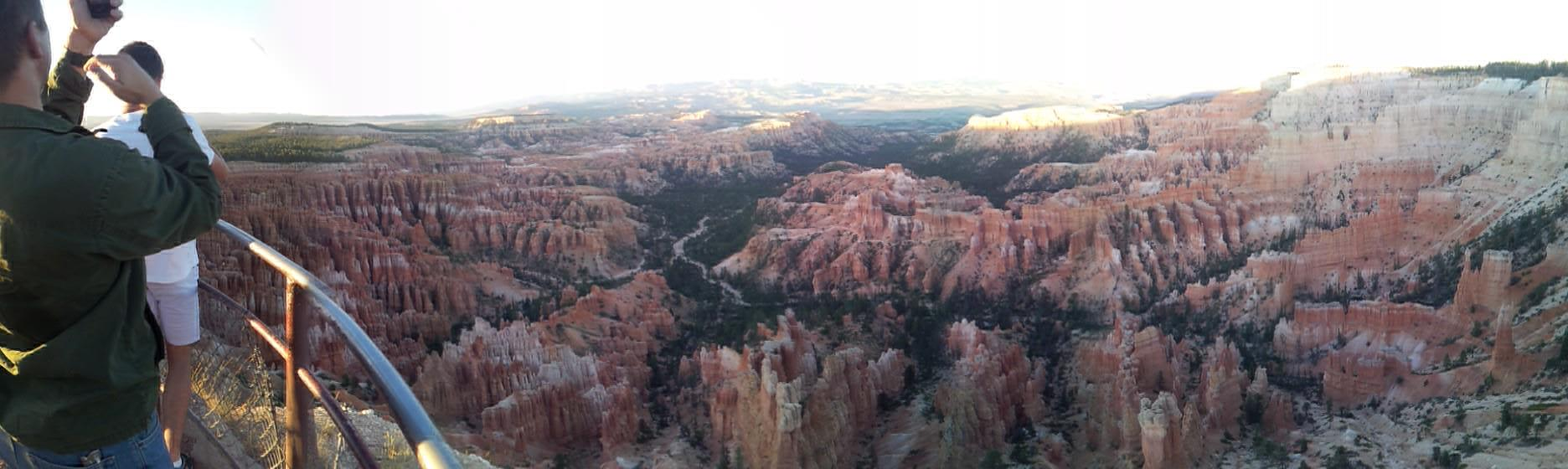 A panorama of the Bryce Canyon amphitheater