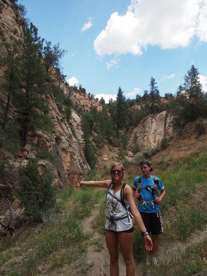 Entering the canyon