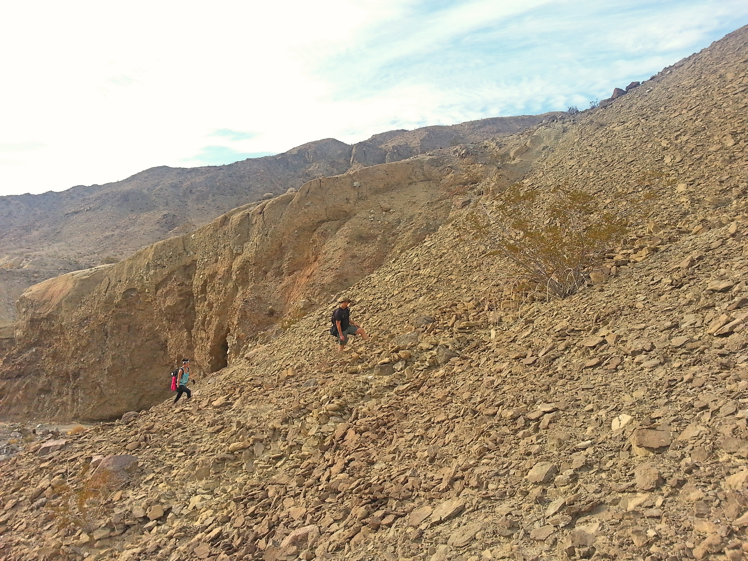 Steep and unstable climbing