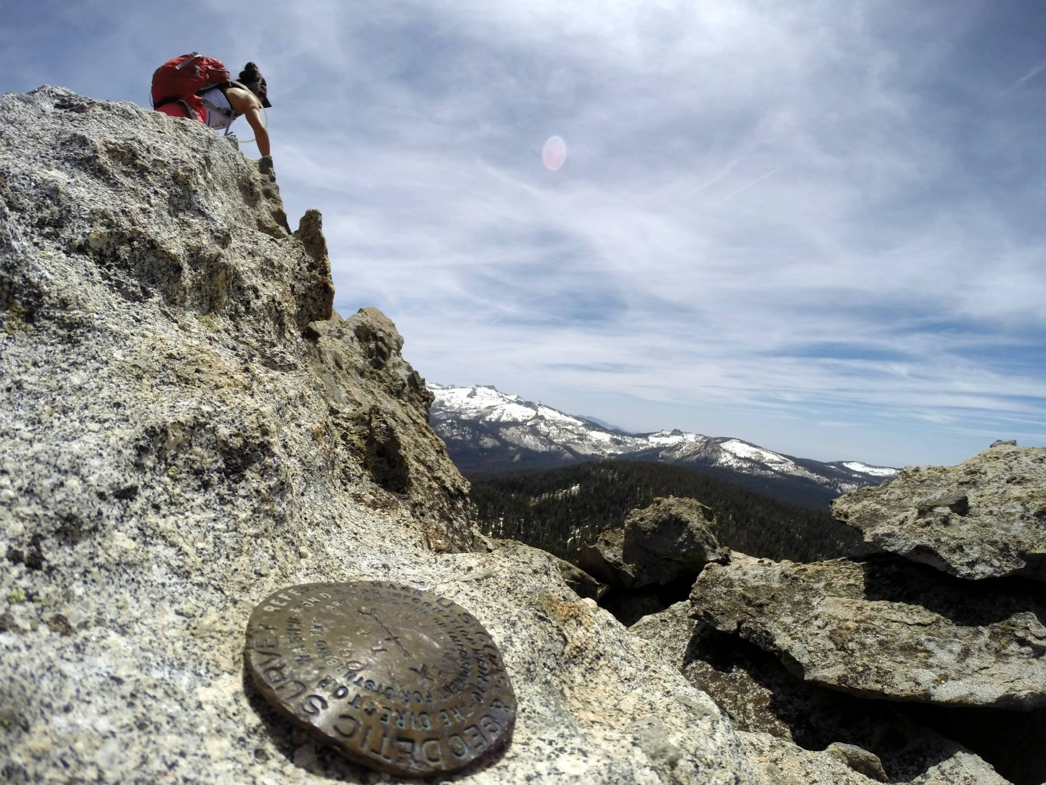A shot Ed took of me at the peak
