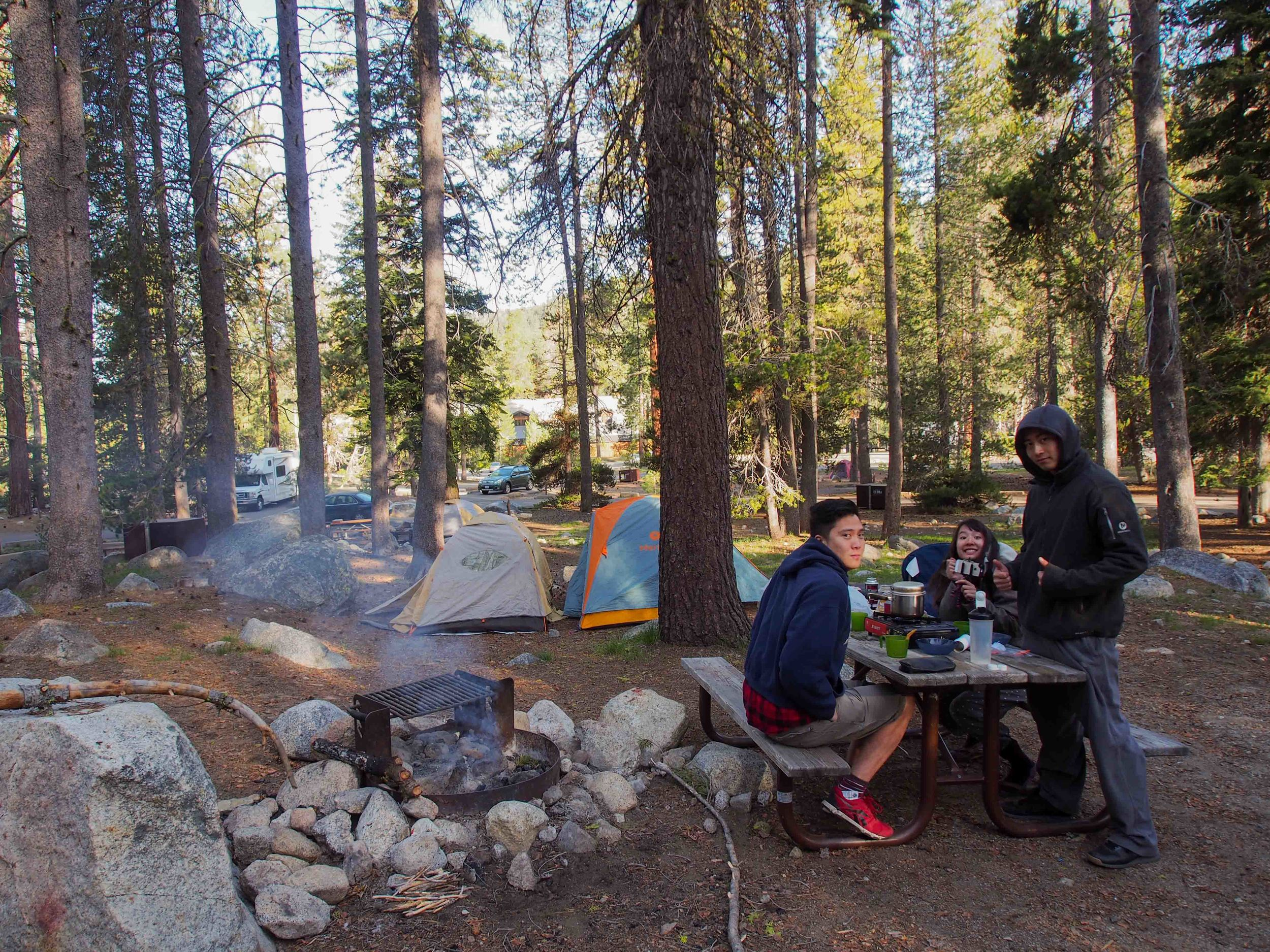 Our camp site on the first loop of the campground
