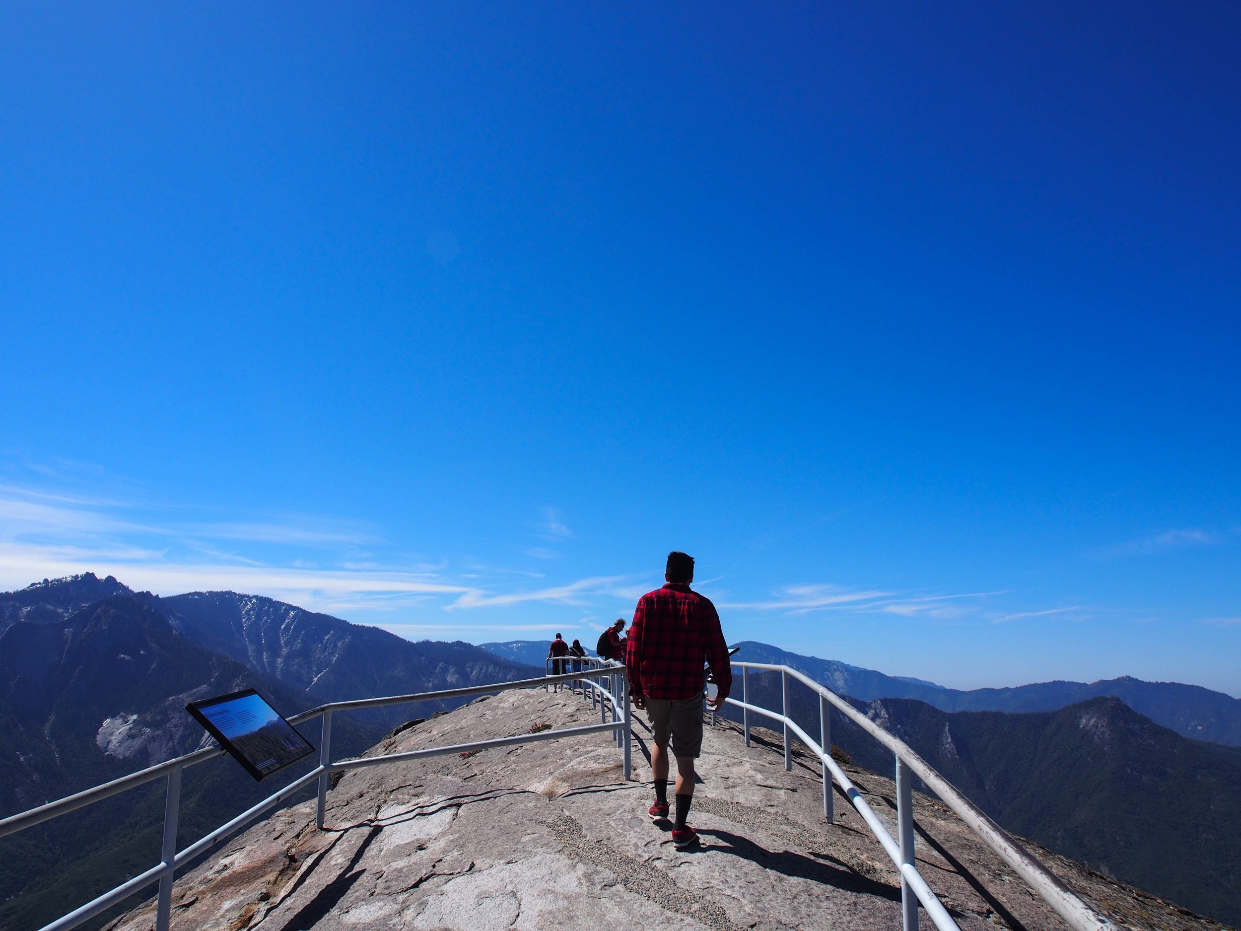 Emerging onto the top of the rock