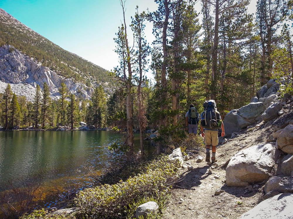 Hiking past Black Lake
