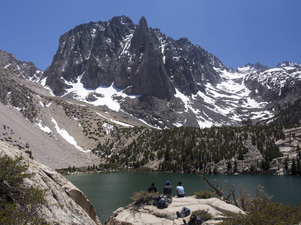 Our first spectacular view of Temple Crag. We just had to stop and eat lunch here. Photo by: Kyle McBurnie