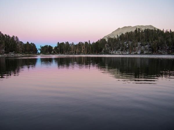 That alpineglow reflecting off Summit Lake
