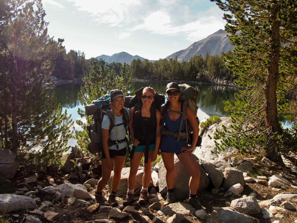 The girls for one final picture before leaving Big Pine
