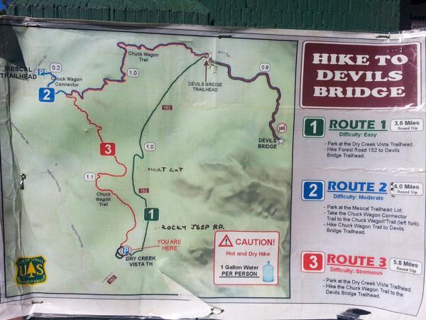 Devil's Bridge Trail Map