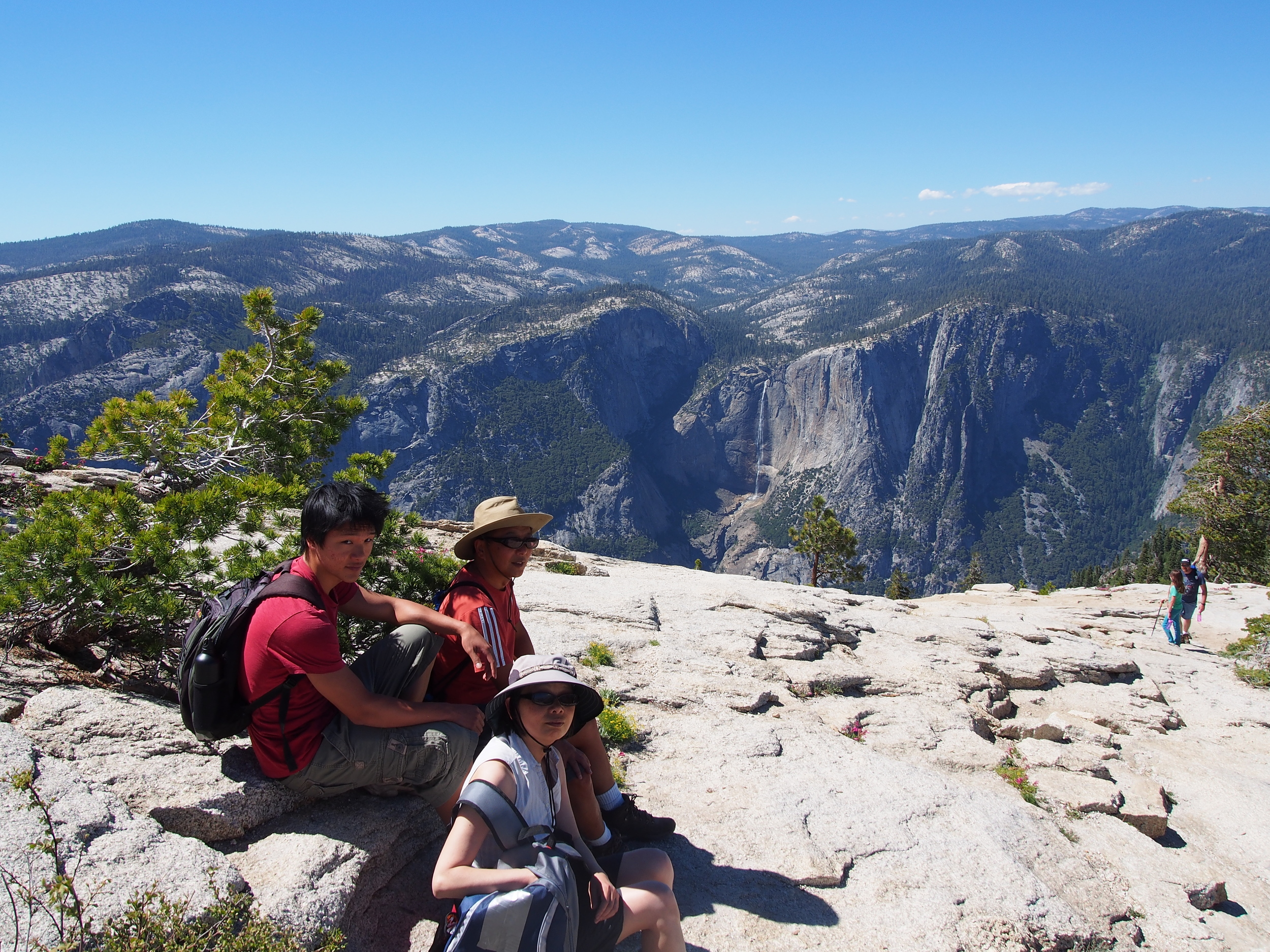 The view from the top! You get a great view of Yosemite Falls from up here