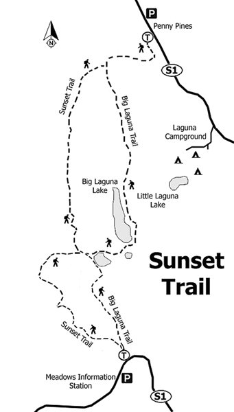 Sunset trail loop map