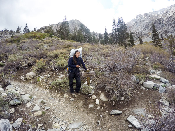 The split to Golden Trout Lake