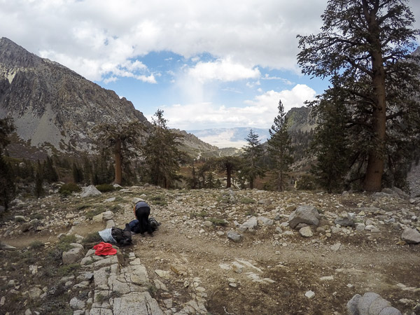 Looking back towards Owens Valley