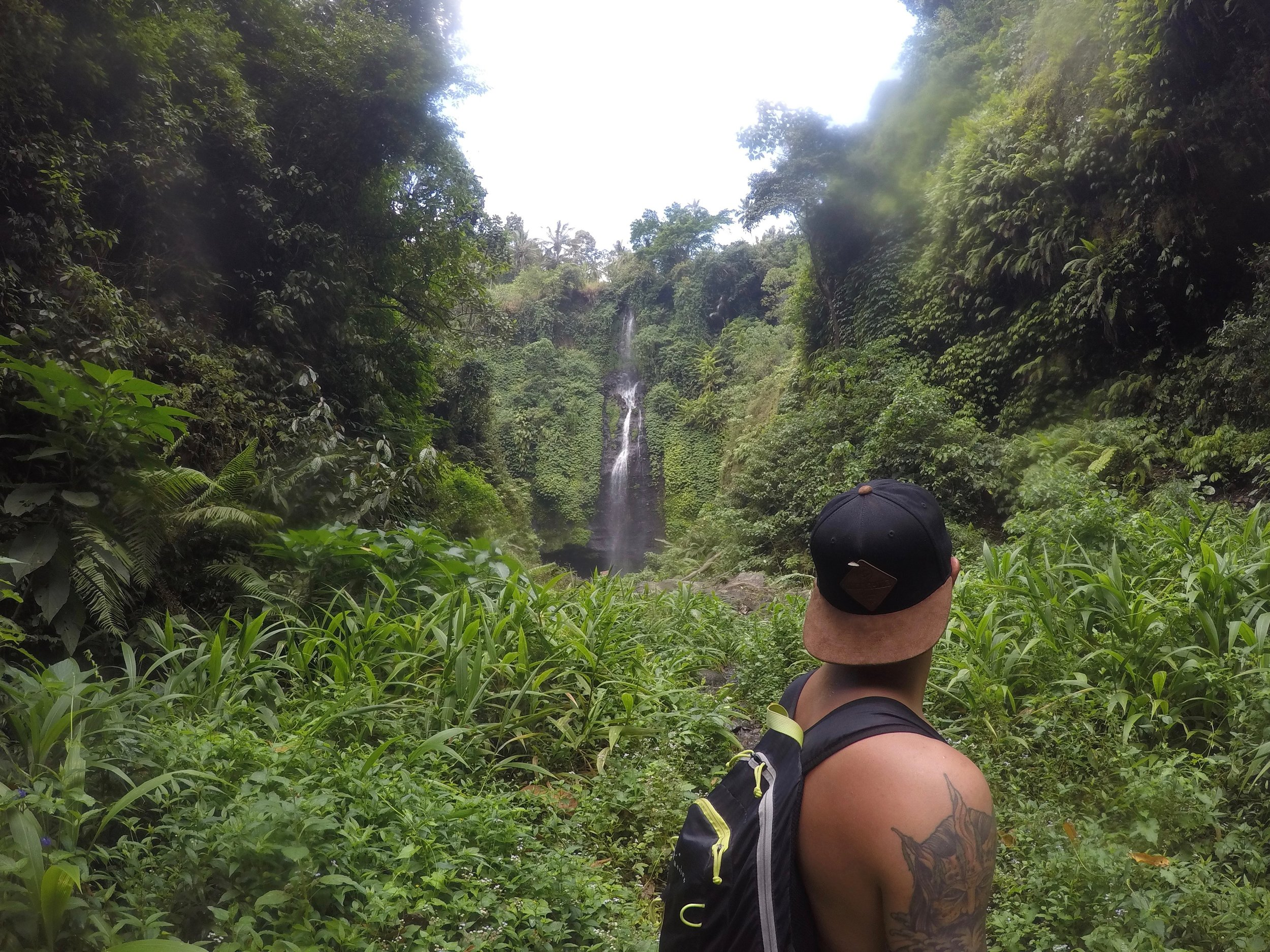 Our first glimpse of one of the waterfalls!