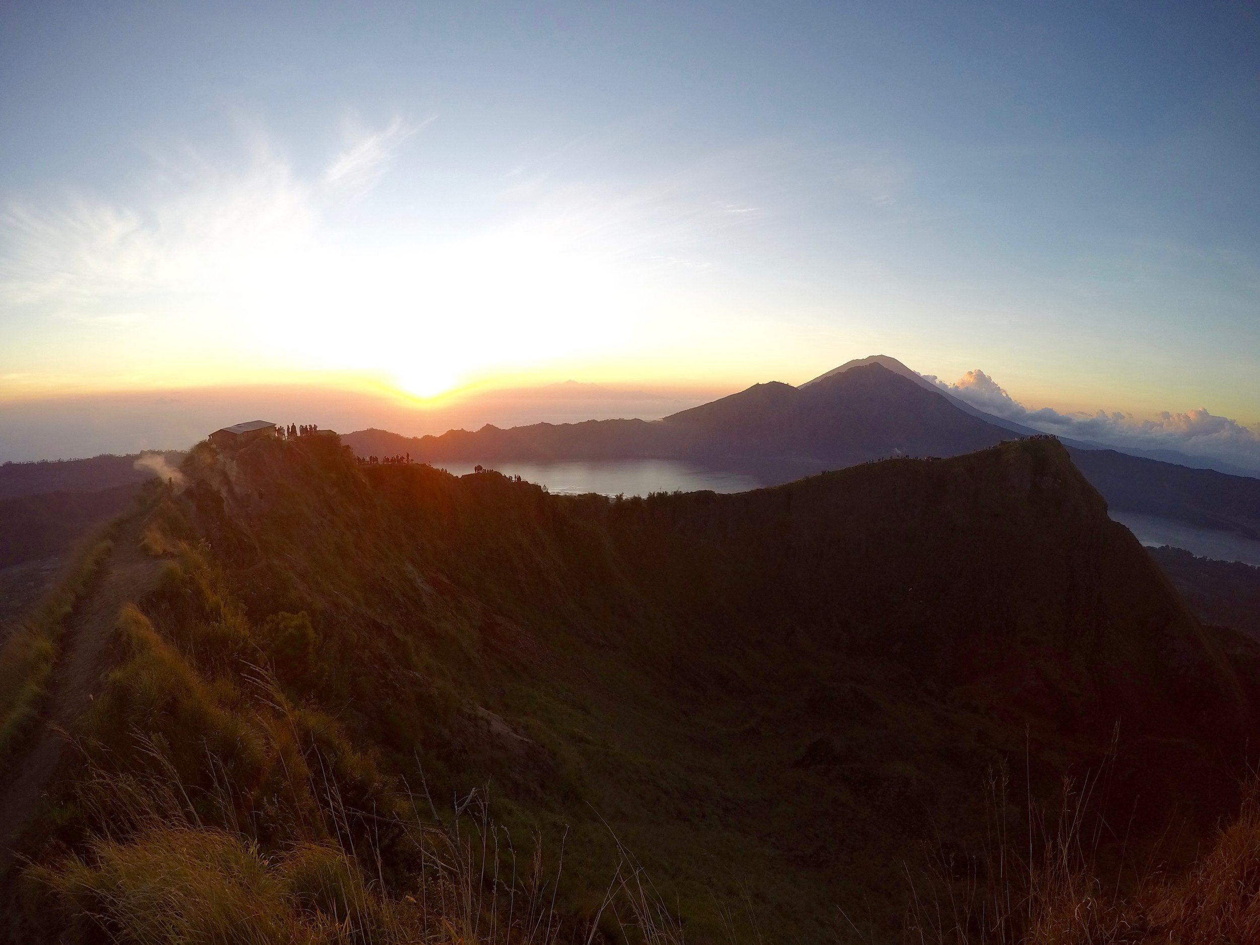 Watching my first volcano sunrise
