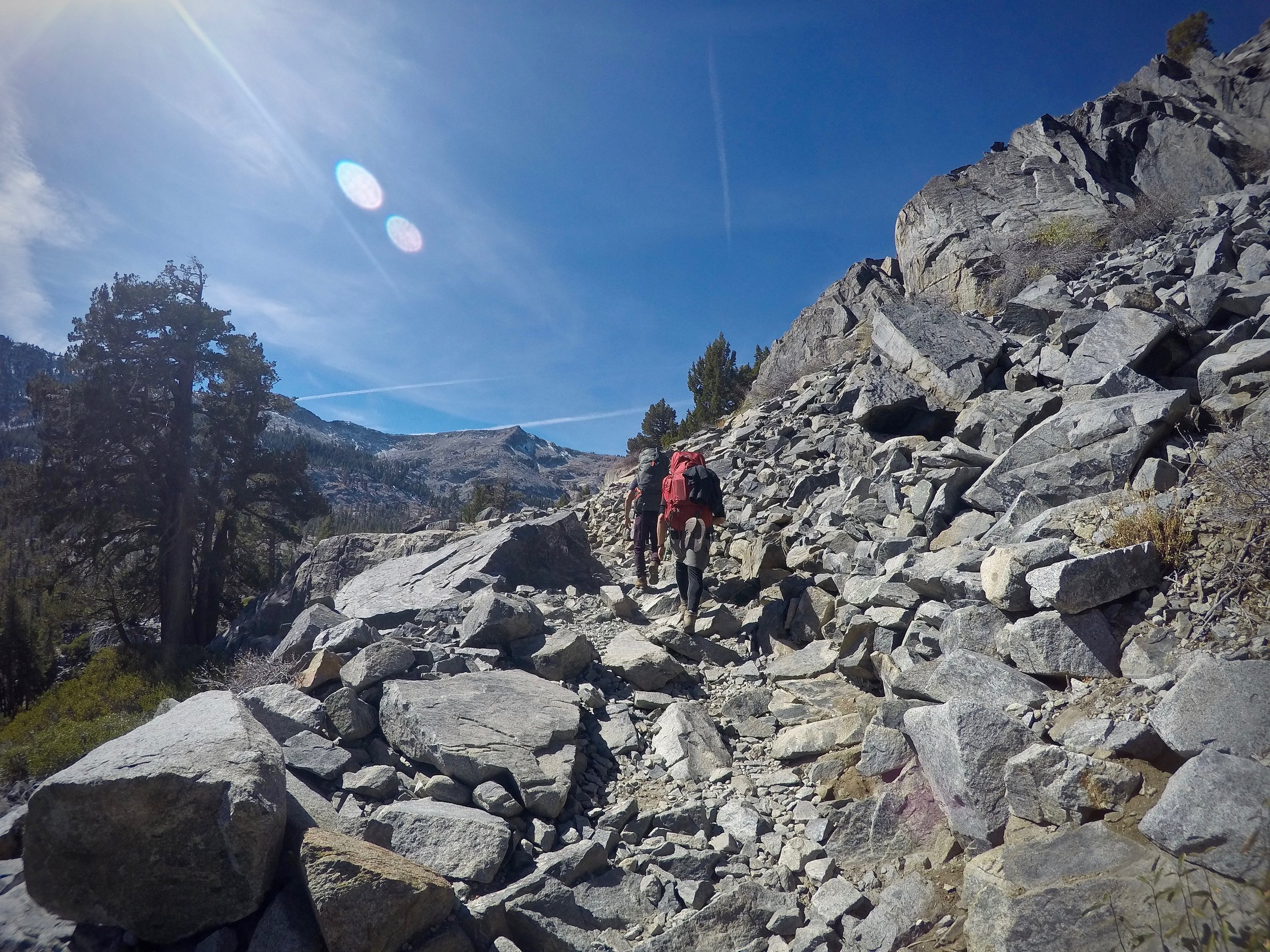 A lot more rocky switchbacks to climb