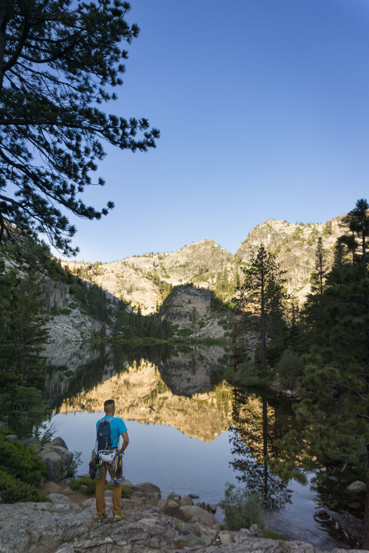 Beautiful glassy reflections on Eagle Lake