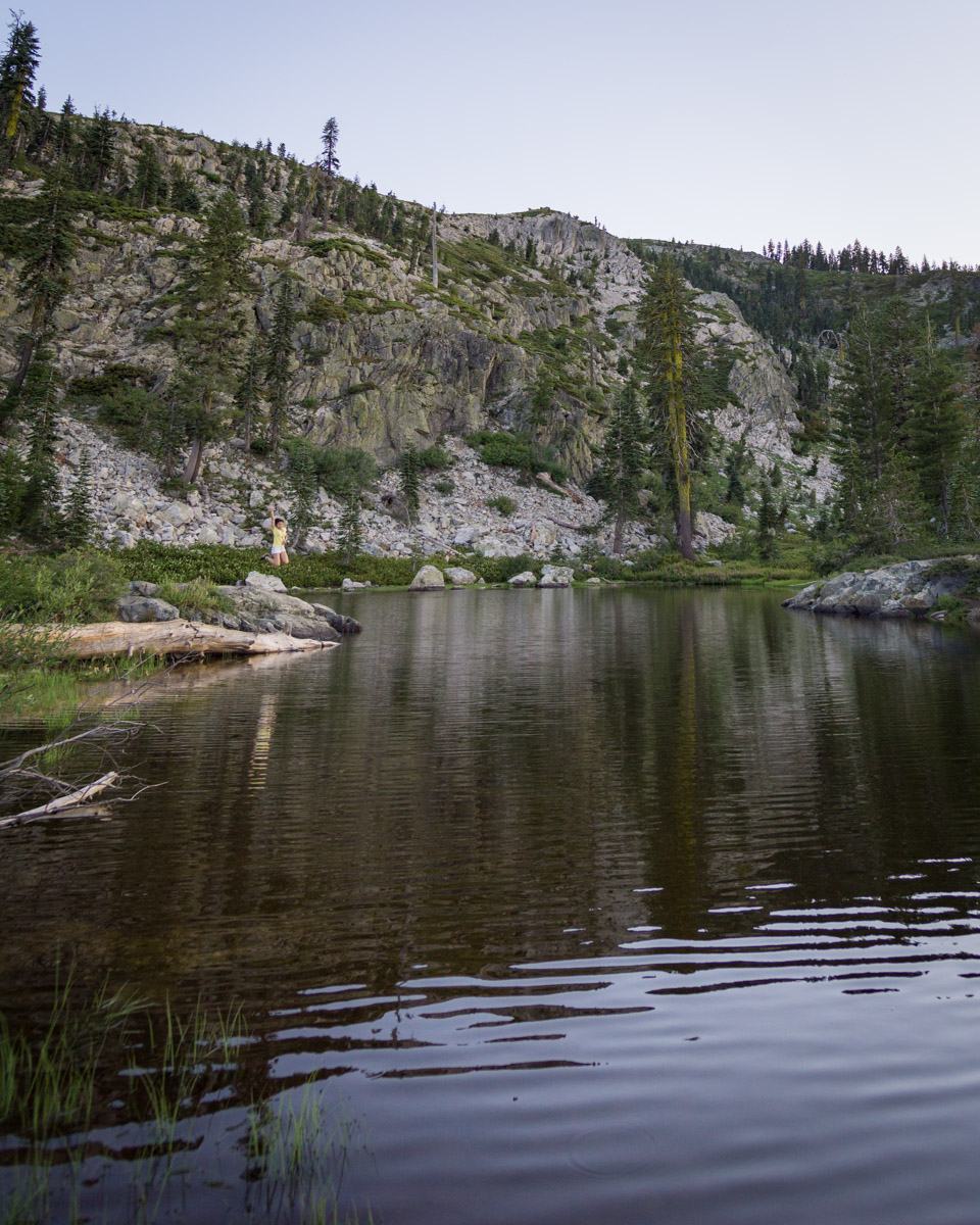 The smaller Heart Lake