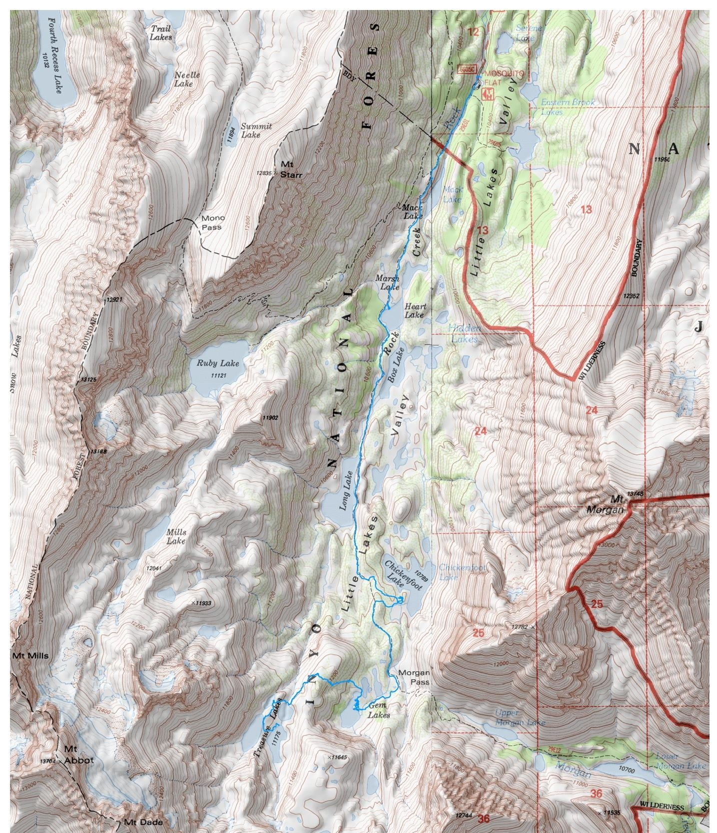 little-lakes-hike-map