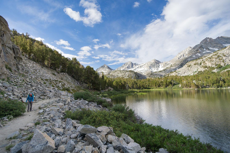 Hiking along Long Lake