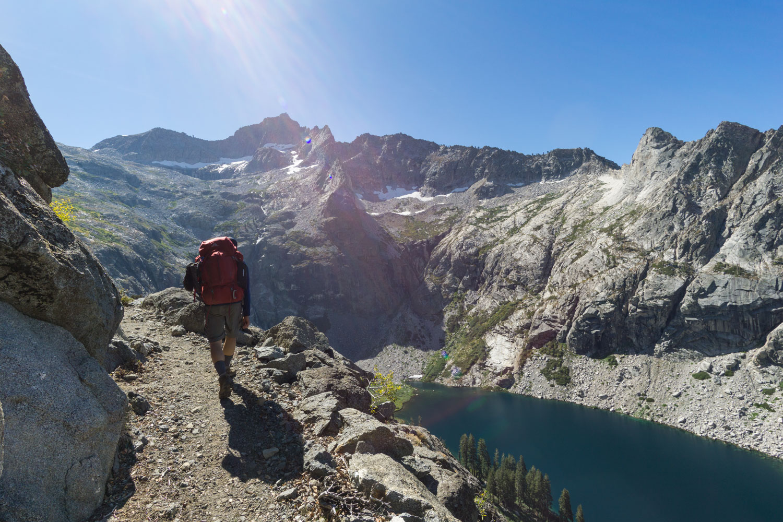 Day 3 backpacking on the High Sierra Trail headed to Moraine Lake