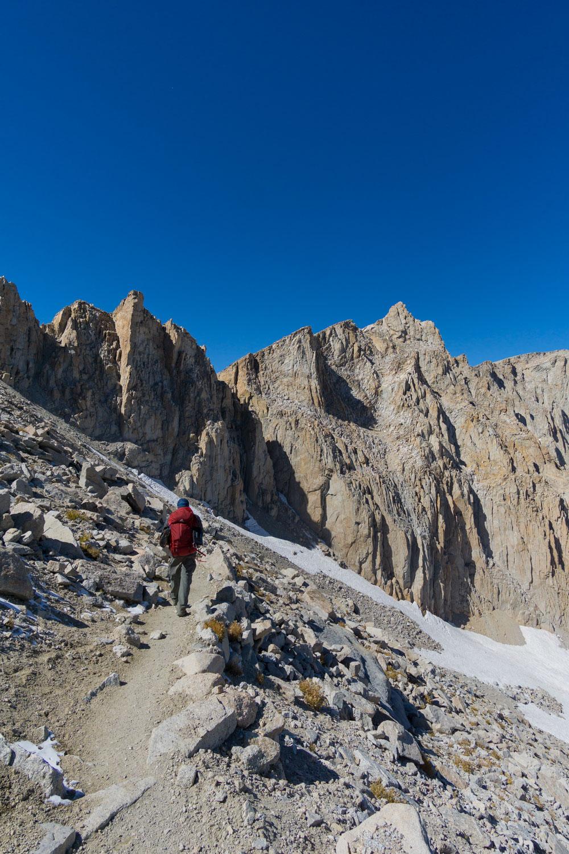 Already far below the summit