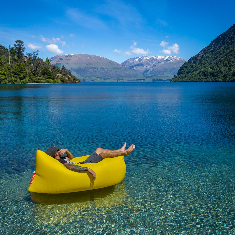 Floating near Queenstown in New Zealand