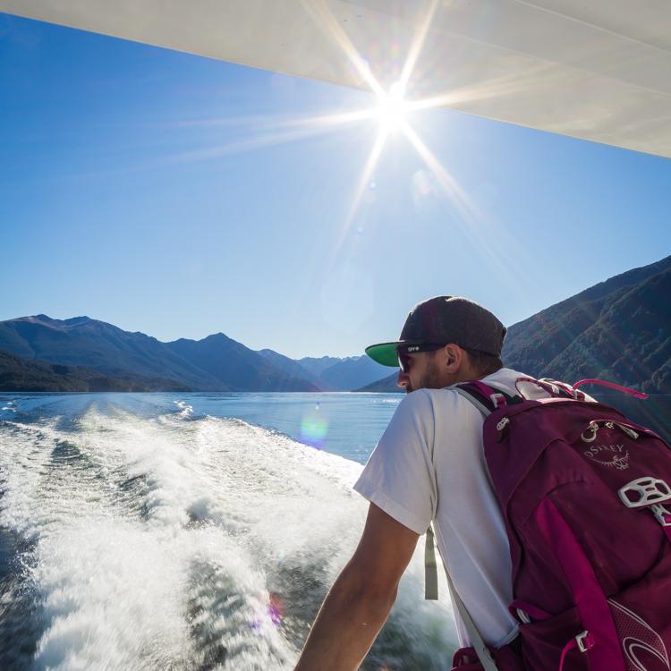 On the boat to glowworms in Te Anau