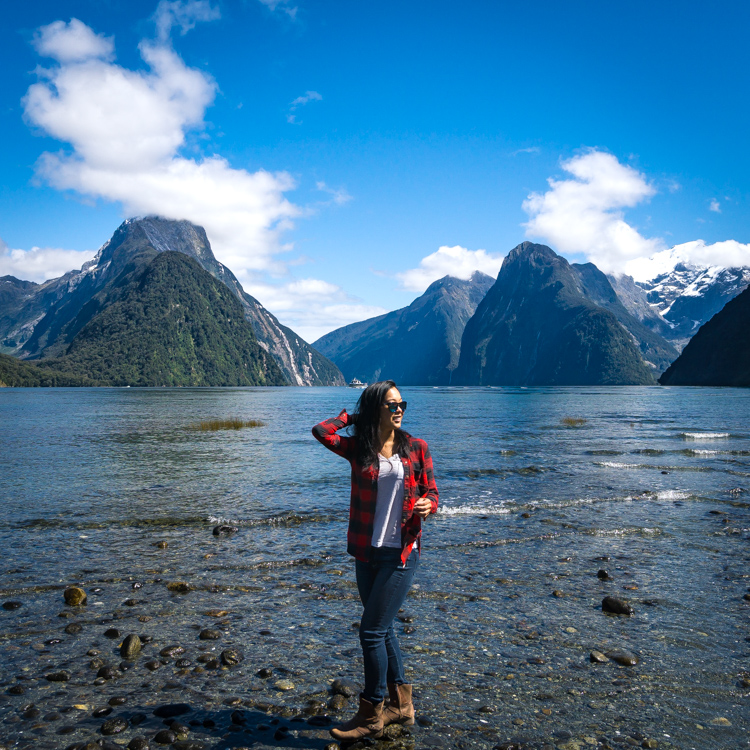 Classic milford sound view in fiordland national park
