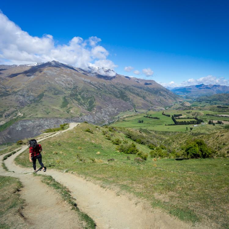 Driving the Crown Range Road from Te Anau to Wanaka