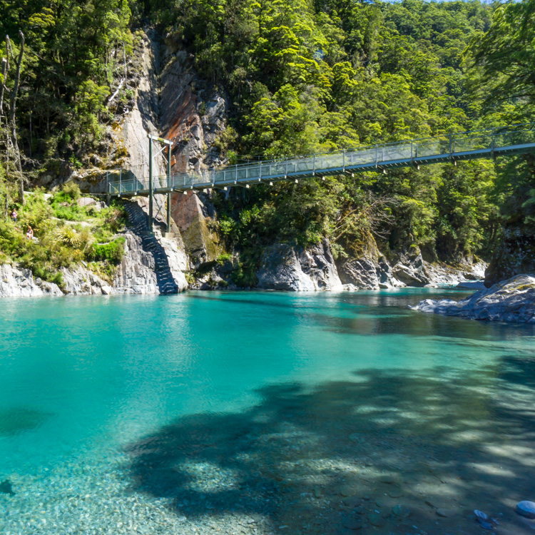 Blue Pools is a classic pit stop during a south island road trip