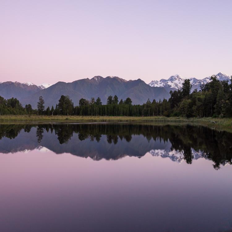 Gorgeous Lake Matheson reflections