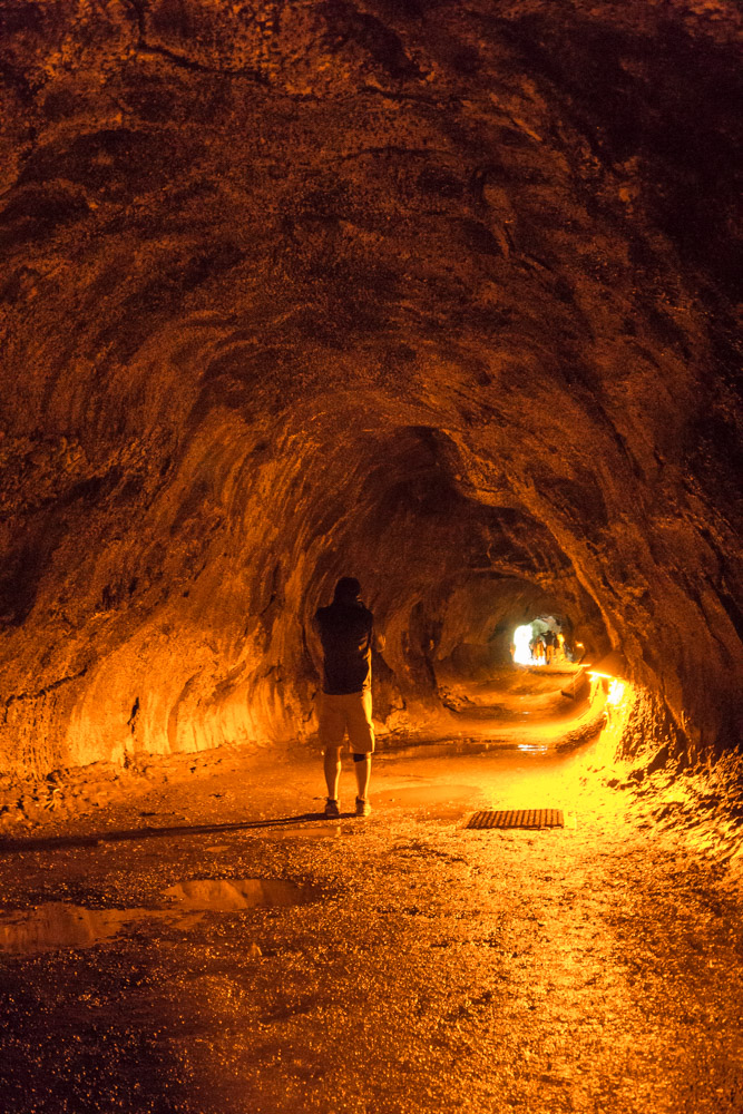 Standing in the middle of the lava tube