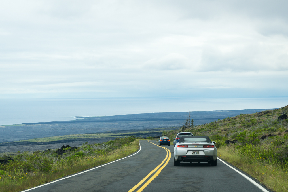 Driving down the Chain of Craters Road